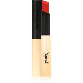 Yves Saint Laurent Rouge Pur Couture The Slim tanka matirajoča šminka z usnjenim učinkom odtenek 10 Corail Antinomique 2,2 g