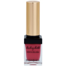 Yves Saint Laurent Baby Doll Kiss & Blush Lipstick and Blusher In One Color 3 Rose Libre  10 ml