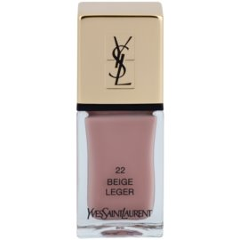 Yves Saint Laurent La Laque Couture verniz tom 22 Beige Léger 10 ml