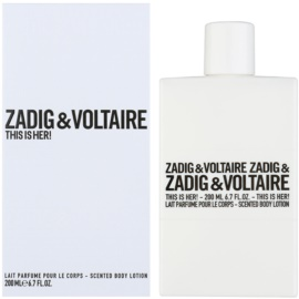 Zadig & Voltaire This Is Her! молочко для тіла для жінок 200 мл