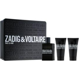 Zadig & Voltaire This Is Him! coffret cadeau I.  eau de toilette 50 ml + gel de douche 2 x 50 ml