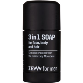 Zew For Men sabão natural em barra para o rosto, corpo e cabelo 3 em 1  85 ml