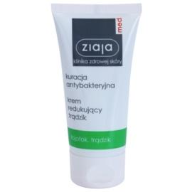 Ziaja Med Antibacterial Care lehký krém proti akné regulující tvorbu kožního mazu  50 ml