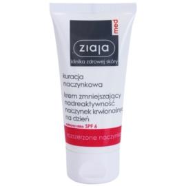 Ziaja Med Capillary Care leichte feuchtigkeitsspendende Creme für empfindliche Haut mit Neigung zu Rötungen SPF 6  50 ml