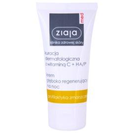 Ziaja Med Vitamin C & Hyaluronic Acid tiefenregenerierende Nachtcreme für müde Haut  50 ml