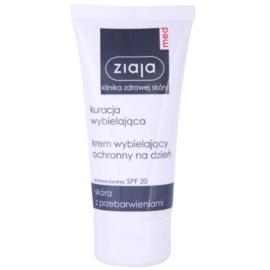 Ziaja Med Whitening Care védőkrém a pigmentfoltok ellen SPF 20  50 ml