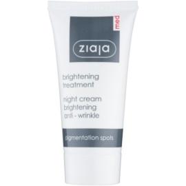 Ziaja Med Whitening Care nočný protivráskový krém pre pleť s hyperpigmentáciou  50 ml