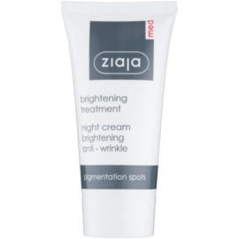 Ziaja Med Whitening Care creme de noite antirrugas para pele com hiperpigmentação  50 ml