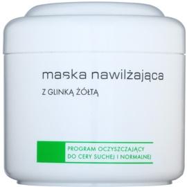 Ziaja Pro Cleansers Dry and Normal Skin hydratační maska se žlutým jílem pro profesionální použití  200 ml