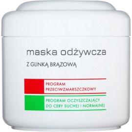 Ziaja Pro Multi-Care vyživující maska s hnědým jílem pro profesionální použití  200 ml