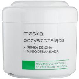 Ziaja Pro Cleansers Oily and Combination Skin čisticí maska se zeleným jílem a mikrokrystalky pro profesionální použití  250 ml