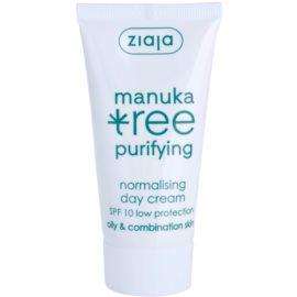 Ziaja Manuka Tree Purifying denní krém pro smíšenou a mastnou pleť SPF 10 50 ml