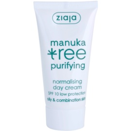 Ziaja Manuka Tree Purifying Tagescreme für fettige und Mischhaut SPF 10 50 ml