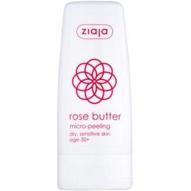 Ziaja Rose Butter tělový peeling s mikrogranulkami 30+  60 ml