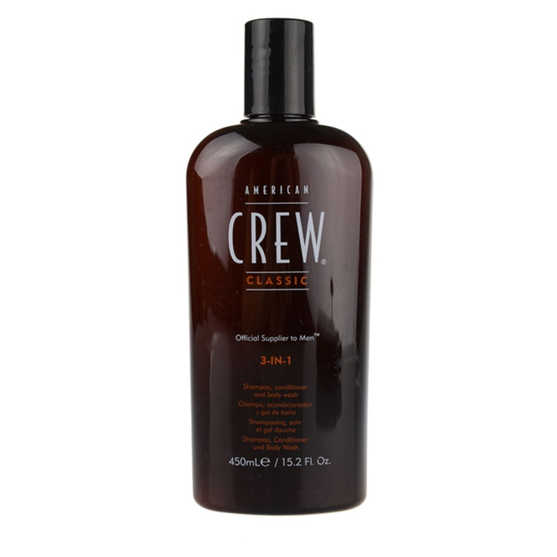 american crew classic shampoing apr s shampoing et gel douche 3 en 1 pour homme. Black Bedroom Furniture Sets. Home Design Ideas