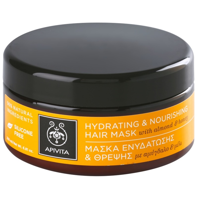 apivita holistic hair care almond honey masque hydratant nourrissant pour cheveux secs. Black Bedroom Furniture Sets. Home Design Ideas