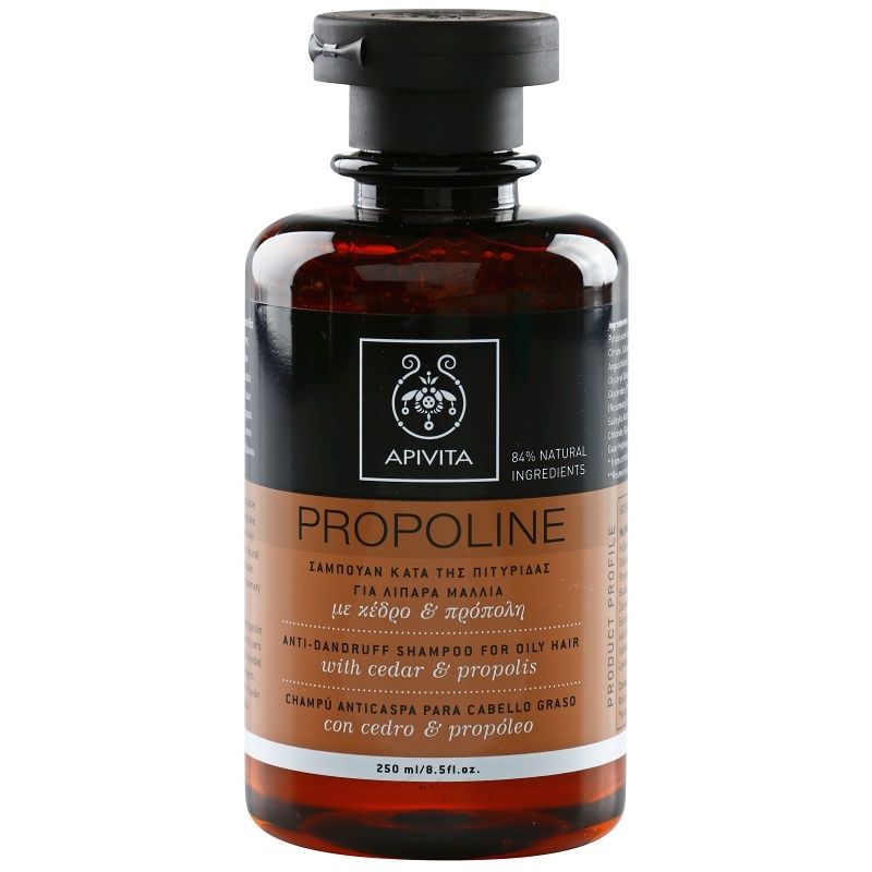 apivita holistic hair care cedar propolis shampoo gegen schuppen f r fettiges haar. Black Bedroom Furniture Sets. Home Design Ideas