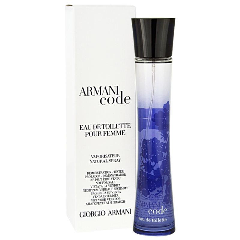 47b65ab37 Armani Code Woman, Eau de Toilette tester for Women 75 ml | notino.co.uk