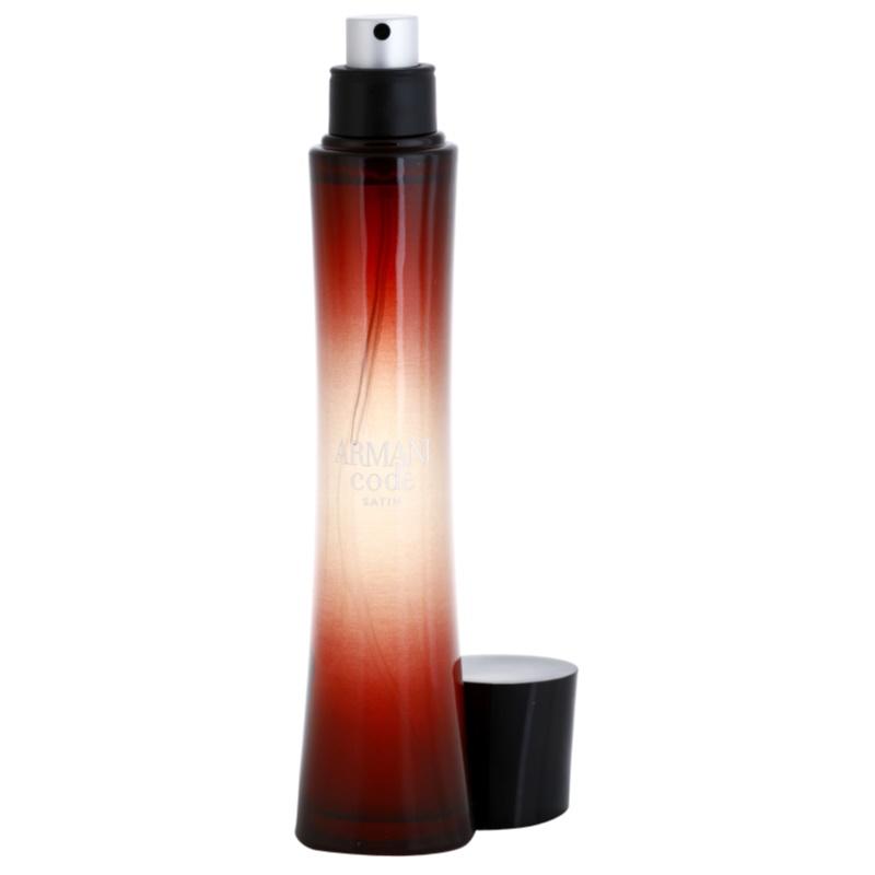 armani code satin eau de parfum f r damen 75 ml. Black Bedroom Furniture Sets. Home Design Ideas