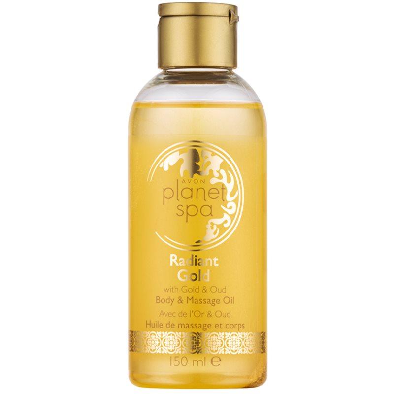 Avon planet spa radiant gold body massage oil for Plante salon