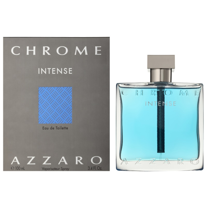 azzaro chrome intense eau de toilette pour homme 100 ml. Black Bedroom Furniture Sets. Home Design Ideas