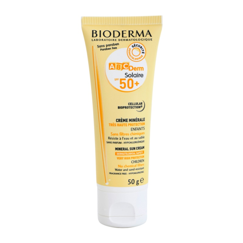 bioderma abc derm solaire krem mineralny do opalania spf 50. Black Bedroom Furniture Sets. Home Design Ideas