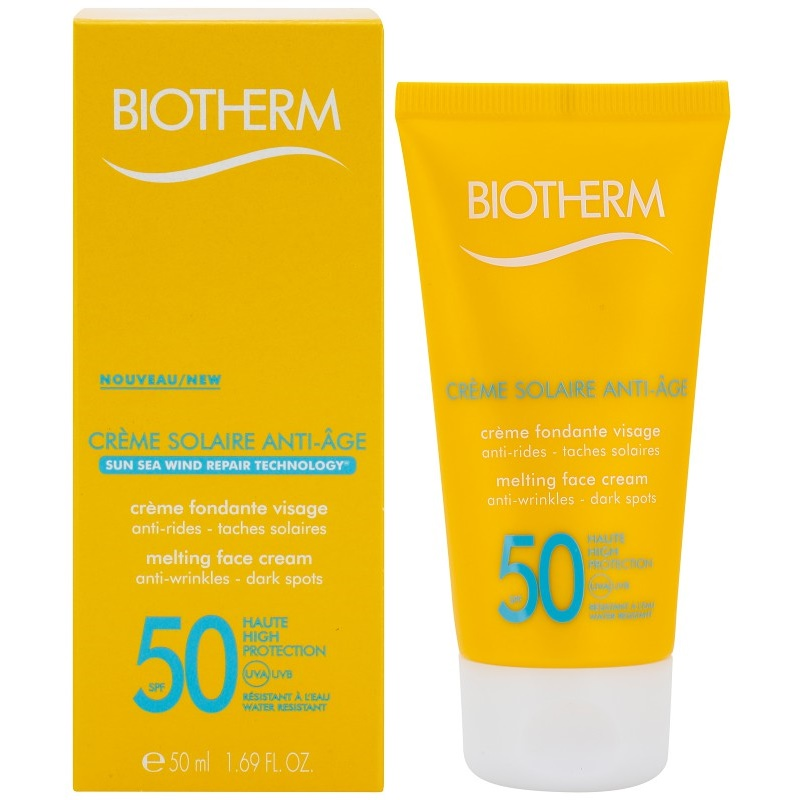 biotherm cr me solaire anti age cr me solaire anti rides spf 50. Black Bedroom Furniture Sets. Home Design Ideas