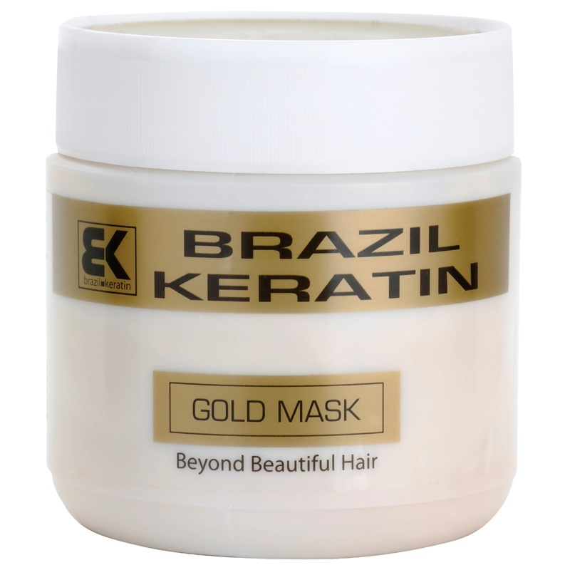brazil keratin gold masque r g n rateur la k ratine pour cheveux ab m s. Black Bedroom Furniture Sets. Home Design Ideas