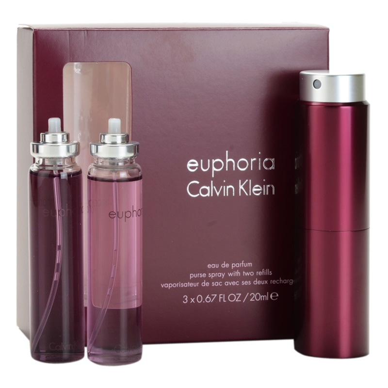 calvin klein euphoria eau de parfum f r damen 3 x 20 ml. Black Bedroom Furniture Sets. Home Design Ideas