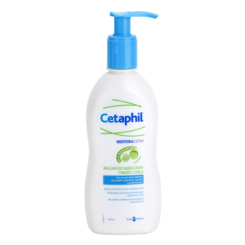 cetaphil restoraderm baume hydratant corps et visage. Black Bedroom Furniture Sets. Home Design Ideas