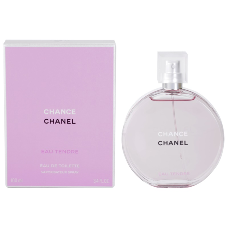 chanel chance eau tendre eau de toilette pour femme 100 ml. Black Bedroom Furniture Sets. Home Design Ideas