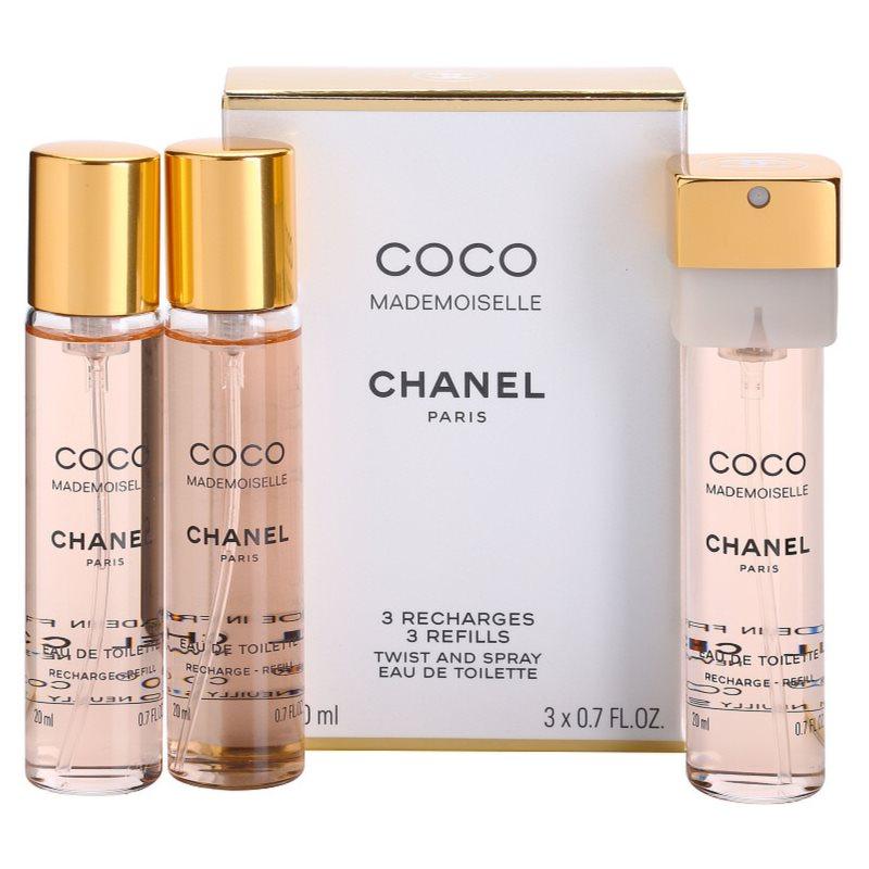 chanel coco mademoiselle eau de toilette for women 3x20 ml 3x refill. Black Bedroom Furniture Sets. Home Design Ideas