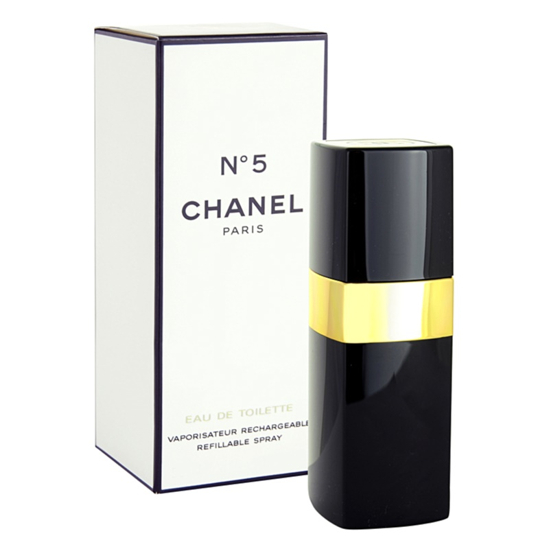chanel n 5 eau de toilette for women 50 ml refillable. Black Bedroom Furniture Sets. Home Design Ideas