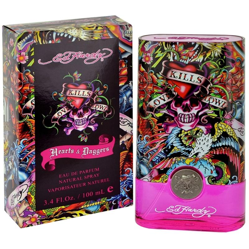 Ed Hardy Hearts And Daggers Woman Eau De Perfume Spray 100ml: Christian Audigier Ed Hardy Hearts & Daggers For Her, Eau De Parfum For Women 100 Ml