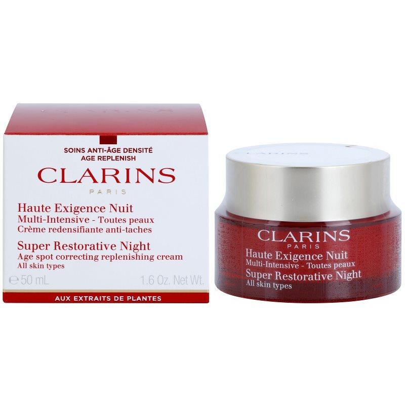 ผลการค้นหารูปภาพสำหรับ clarins super restorative night cream