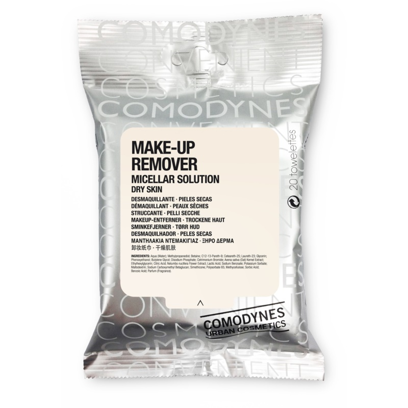 comodynes make up remover micellar solution abschminkt cher f r trockene haut. Black Bedroom Furniture Sets. Home Design Ideas