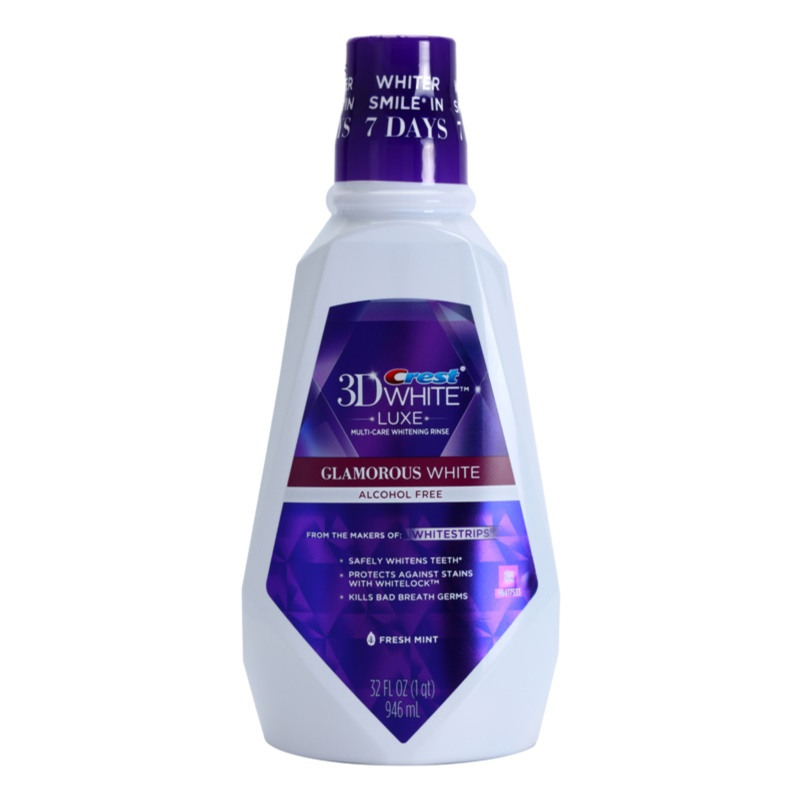 Crest 3D White Luxe Glamorous White, Mouthwash For Radiant