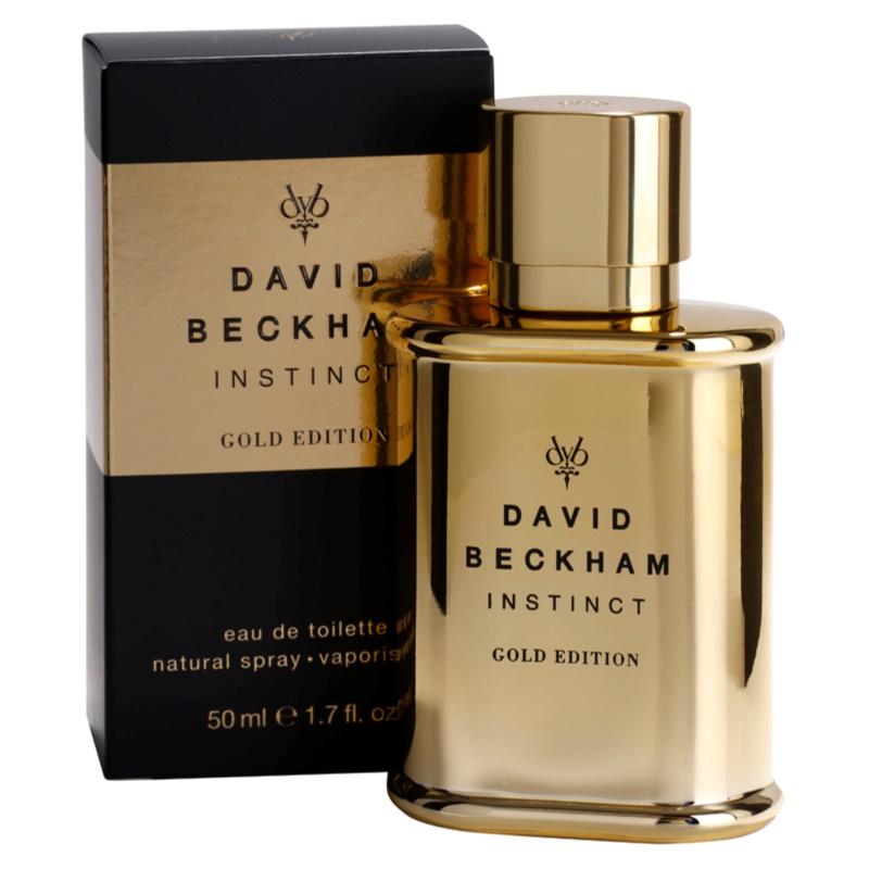 David Beckham Instinct Gold Edition Eau De Toilette For Men 50 Ml