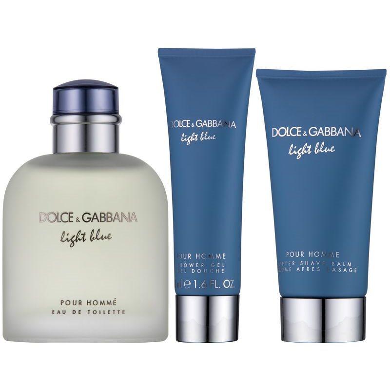 dolce gabbana light blue pour homme gift set i. Black Bedroom Furniture Sets. Home Design Ideas