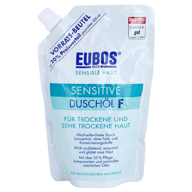 eubos sensitive shower oil for dry and very dry skin refill. Black Bedroom Furniture Sets. Home Design Ideas
