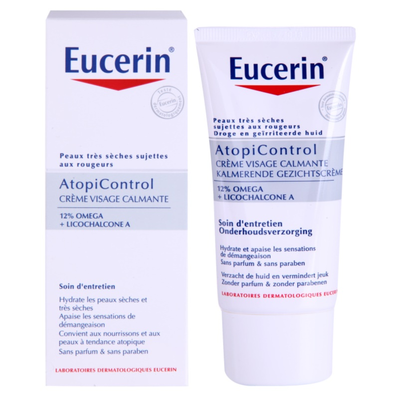 eucerin dry skin dry skin omega cr me visage pour peaux s ches atopiques. Black Bedroom Furniture Sets. Home Design Ideas