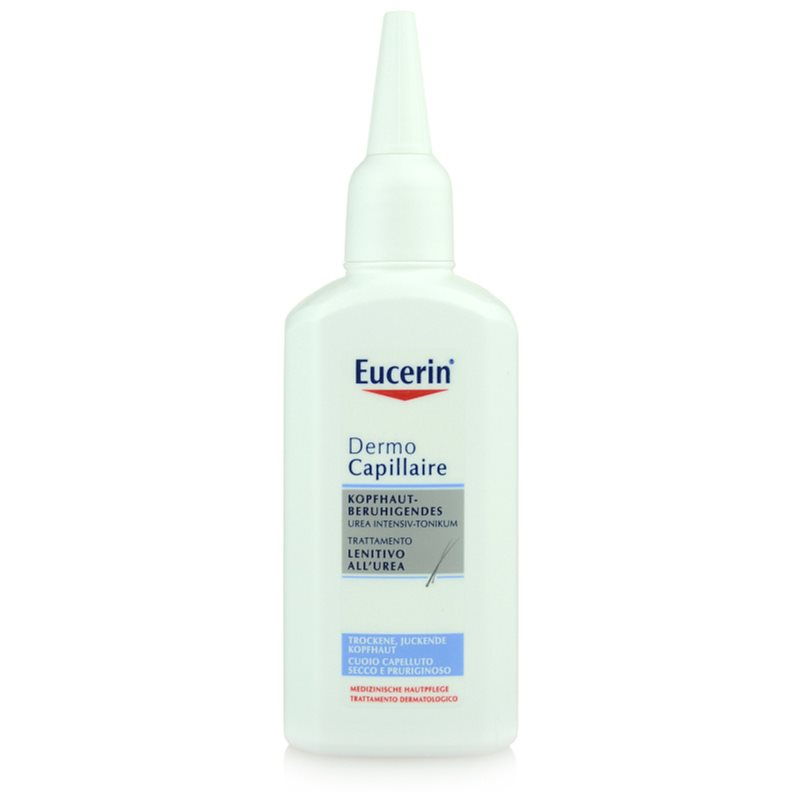 eucerin dermocapillaire lotion tonique cheveux pour cuir chevelu sec avec d mangeaisons. Black Bedroom Furniture Sets. Home Design Ideas
