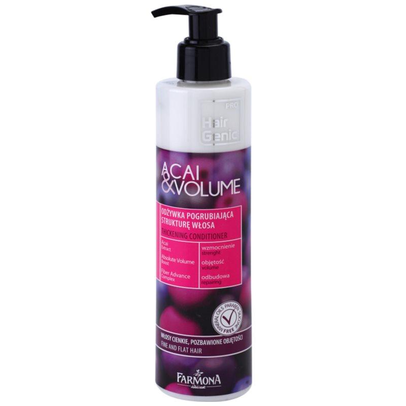 farmona hair genic acai volume apr s shampoing pour cheveux fins et mous. Black Bedroom Furniture Sets. Home Design Ideas