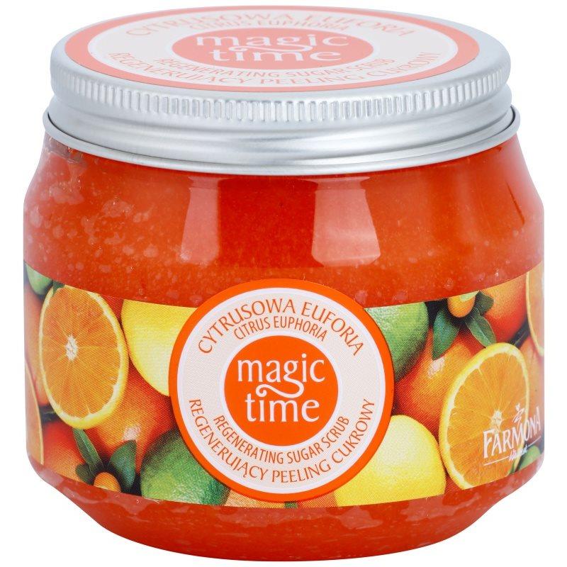 farmona magic time citrus euphoria gommage corporel au sucre r g n rateur de la peau. Black Bedroom Furniture Sets. Home Design Ideas