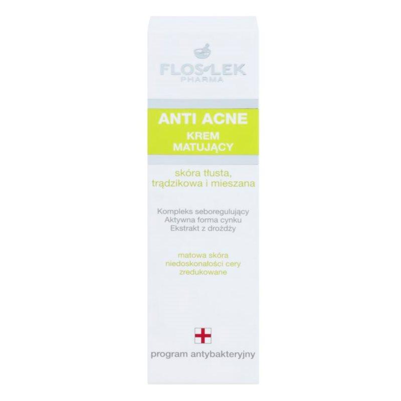 FlosLek Pharma Anti Acne, crème matifiante pour peaux à