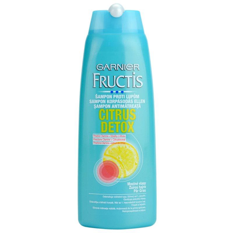 garnier fructis citrus detox shampoo gegen schuppen f r fettiges haar. Black Bedroom Furniture Sets. Home Design Ideas