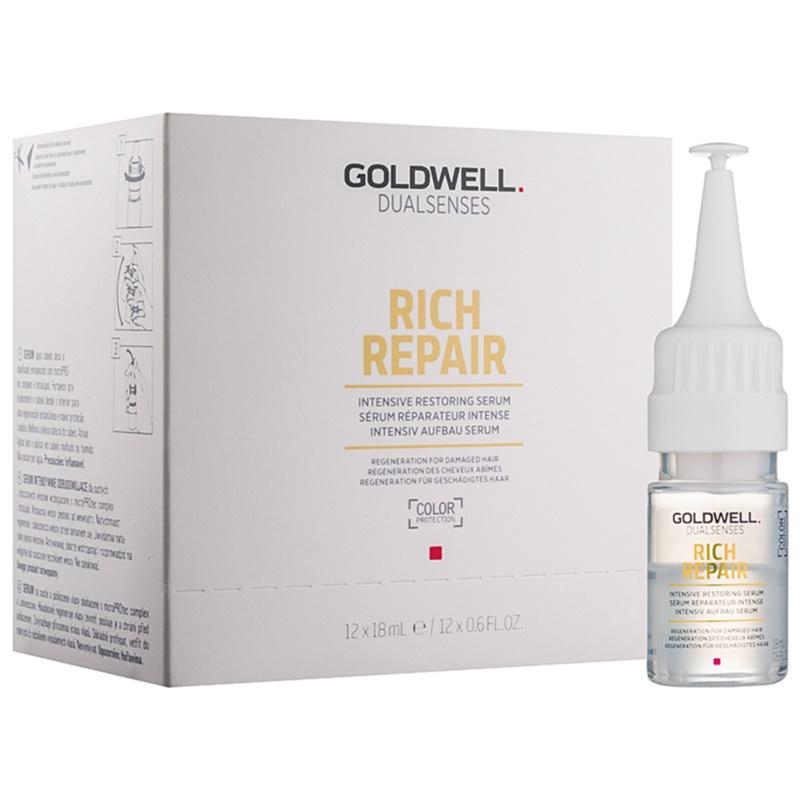 goldwell dualsenses rich repair serum how to use