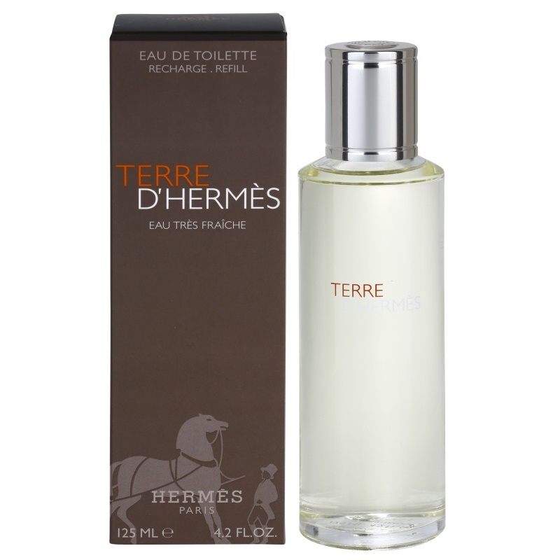 herm s terre d 39 herm s eau tr s fra che eau de toilette per uomo 125 ml ricarica. Black Bedroom Furniture Sets. Home Design Ideas