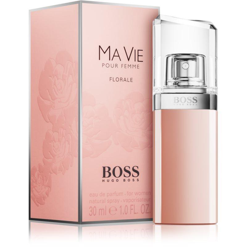 hugo boss boss ma vie florale eau de parfum pour femme 75. Black Bedroom Furniture Sets. Home Design Ideas