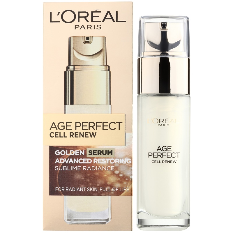 l 39 or al paris age perfect cell renew serum for mature skin. Black Bedroom Furniture Sets. Home Design Ideas